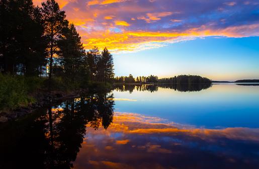 저녁의 호수