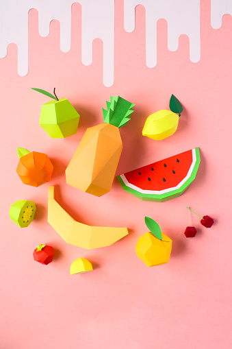 Fruits made of pape