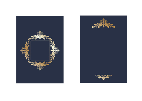 Gold invitation frames