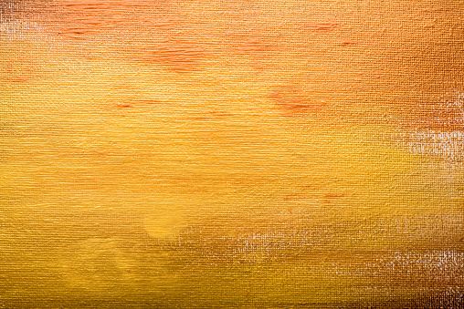 Abstract golden painted