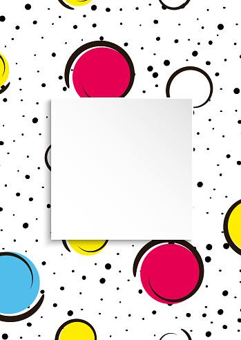Pop art colorful confetti background