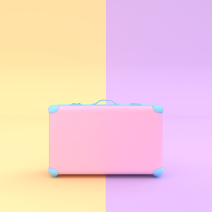 colourful bottle & travel suitcase