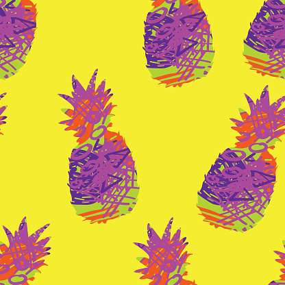 pineapple doodle texture