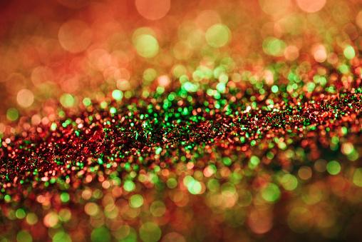 Glitter and bokeh