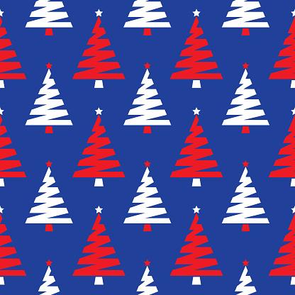 Christmas Trees Seamless Pattern