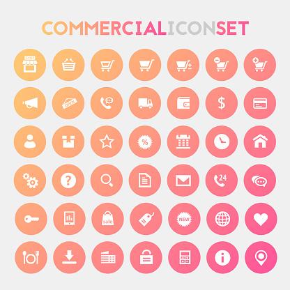 Trendy icons set