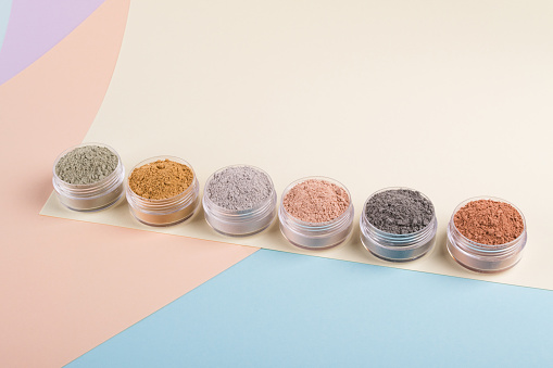 Cosmetic clay mud powders