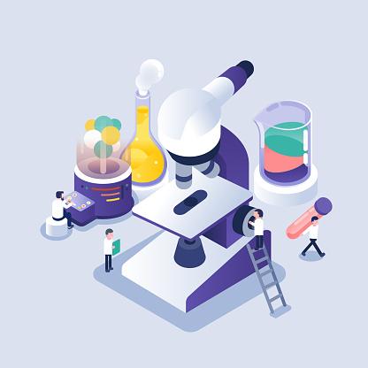 Isometric illustration - laboratory