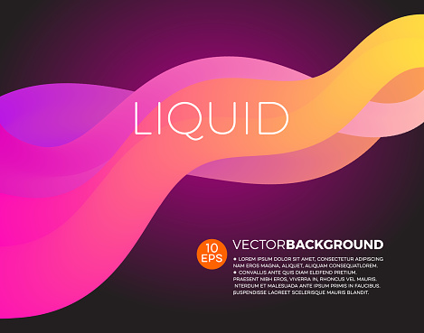 Flowing graphic wave background