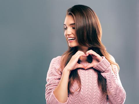 Wearing her heart