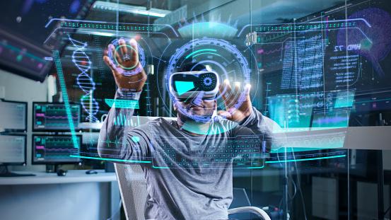 Futuristic Holografic Interface