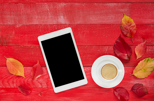 Tablet, Phone, Digital, autumn