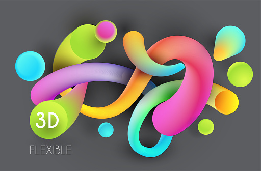 flexible abstract 3d forms