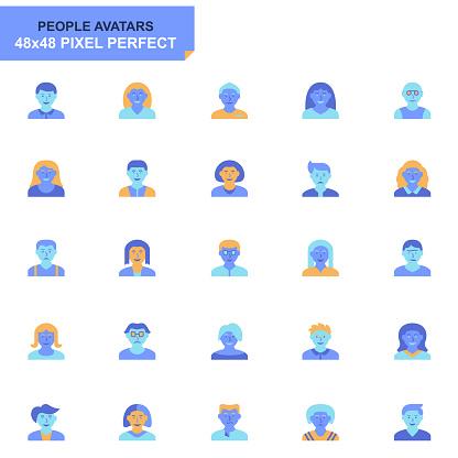 Blue tone basic flat Icons