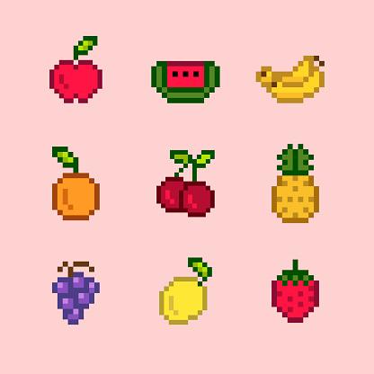 과일 픽셀 아이콘