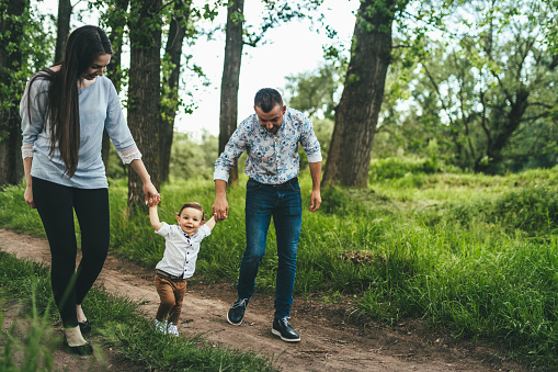 아이와 함께 산책