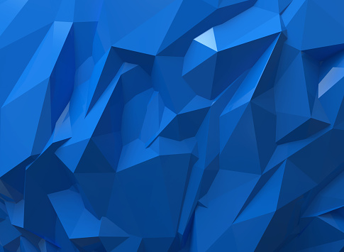 Blue Triangle Geometric Background