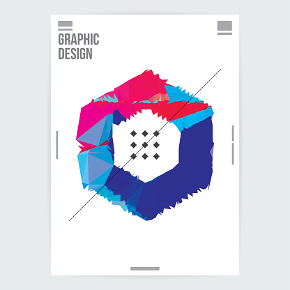 geometric shapes, poster