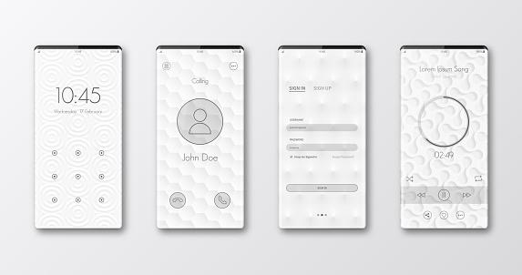 Modern smartphone templates
