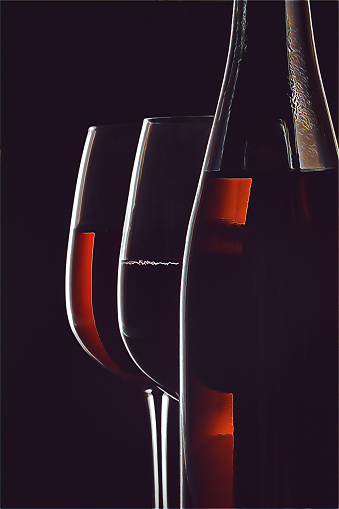 Wine and whiskey glasses