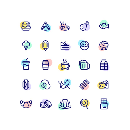 Flat point color icon