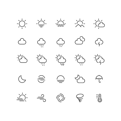 Set of 25 line icon