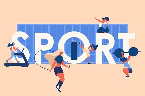 스포츠하는 여성들