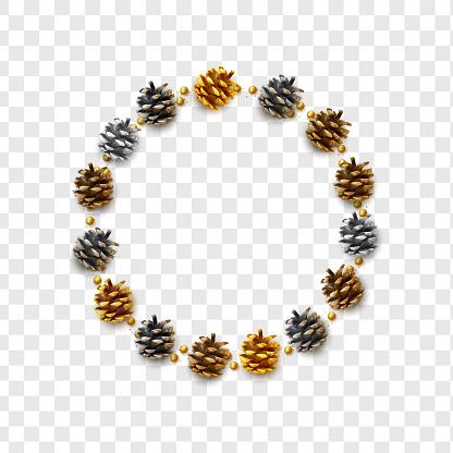 Realistic pine cones