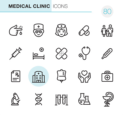 Medical Clinic - Pixel Perfect icons