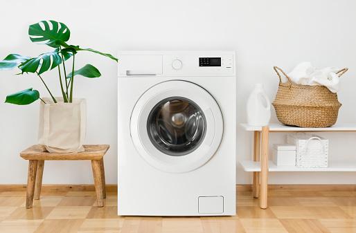 Modern washing machine background