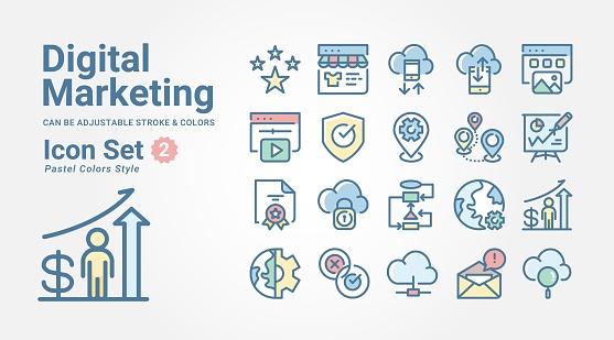 Icon set - Digital Marketing