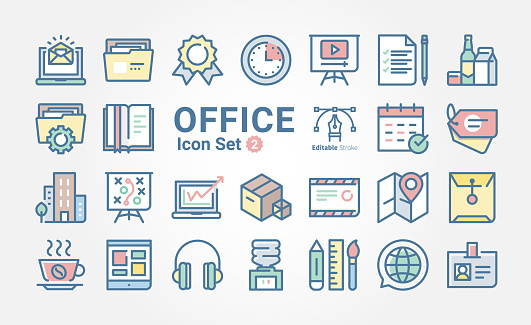 Icon set - Web SEO & Office
