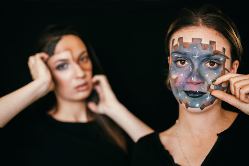 Face Painting - Optical Illusion