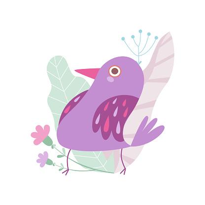Cute Little Bird illustration