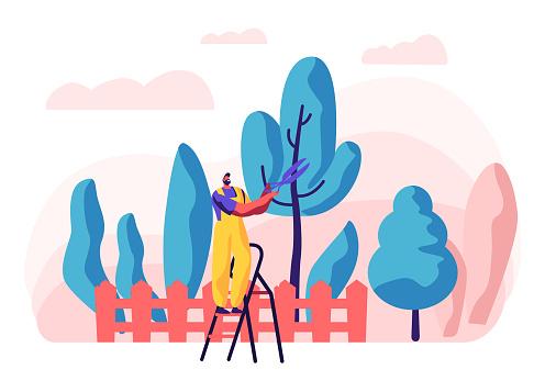 Organic Gardening Concept illustration
