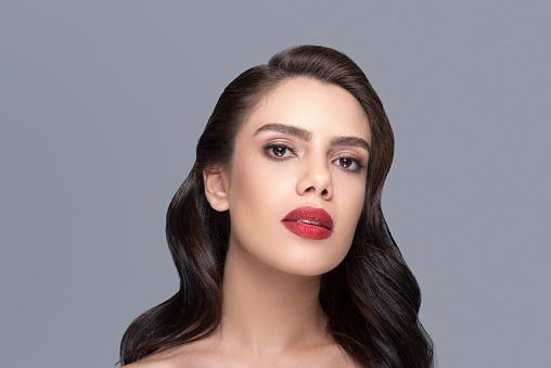 Beauty shot of a fashion model