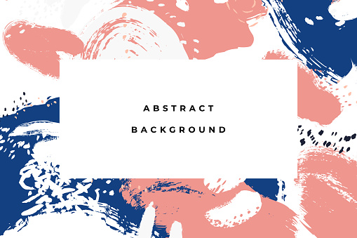 Colorful bright hand drawn abstract background