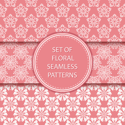Floral seamless patterns compilation