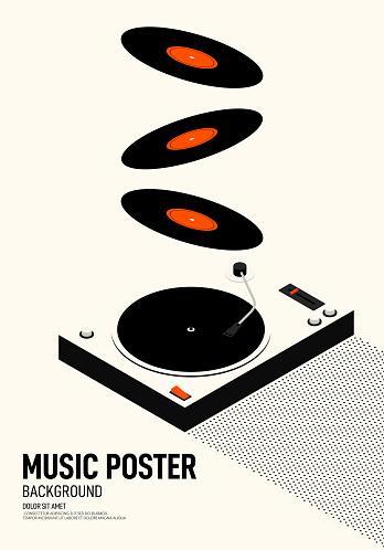 Music & Movie retro poster