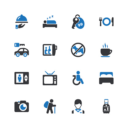 Blue point icon set