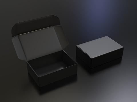 Blank cardboard gift mock-up