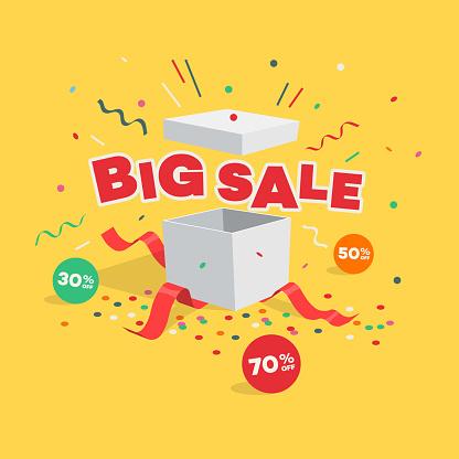 Time sale illustration