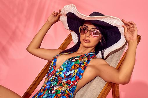 Fashion portrait of stunning woman