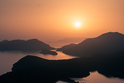 fethiye oludeniz hill sunset