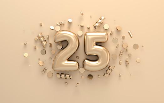 Golden 3d number