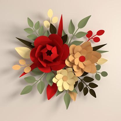 Paper cut flower