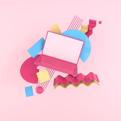 Laptop 3D concept art