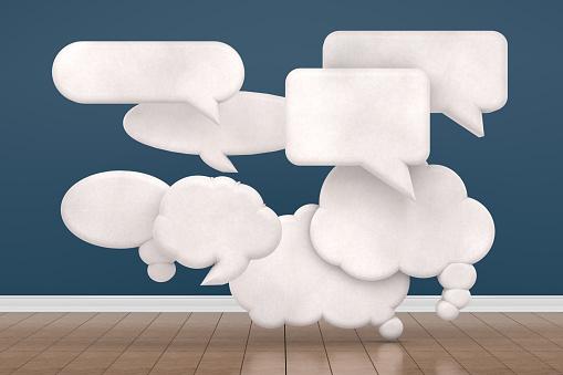 Speech Bubble in Empty Living Room