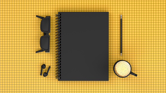 Top view of notebook