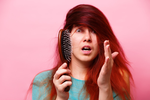 Comb and problem hair